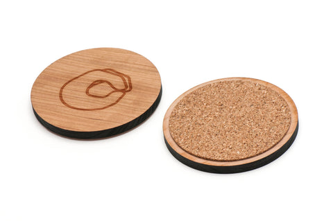 Asl O Wooden Coasters Set of 4