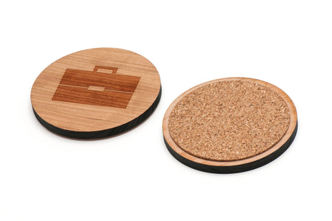 Briefcase Wooden Coasters Set of 4