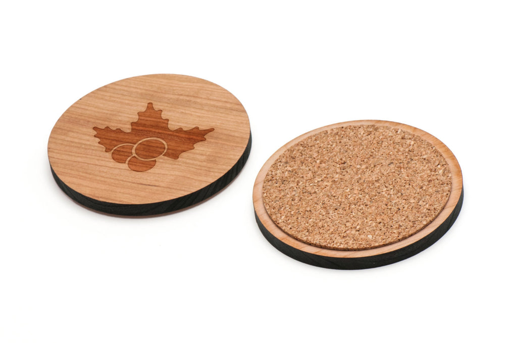 Mistletoe Wooden Coasters Set of 4