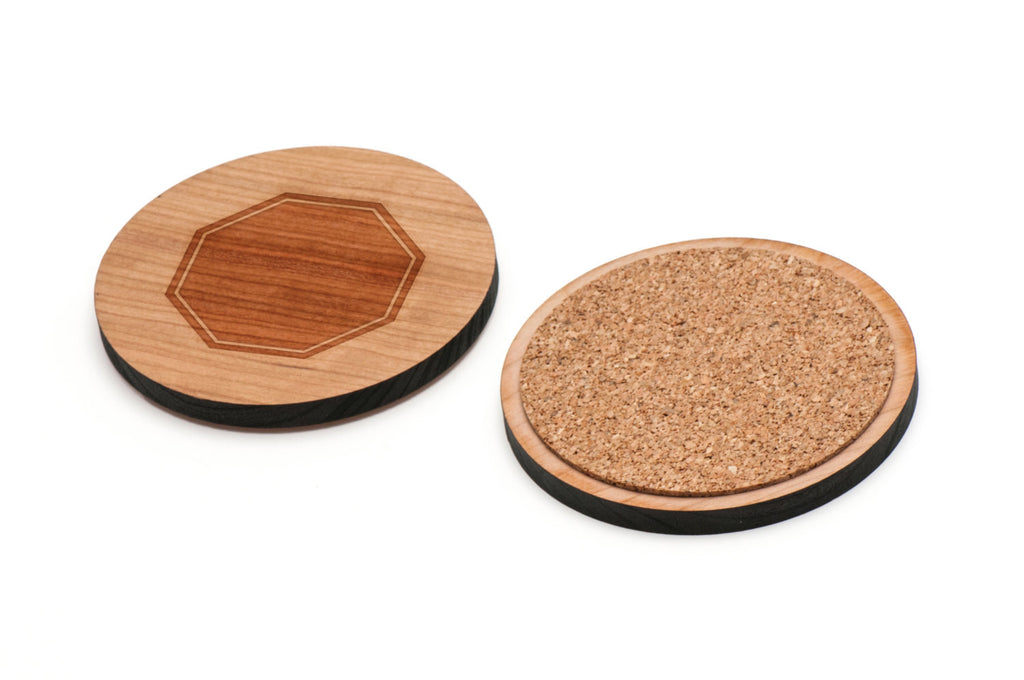 Stop Wooden Coasters Set of 4