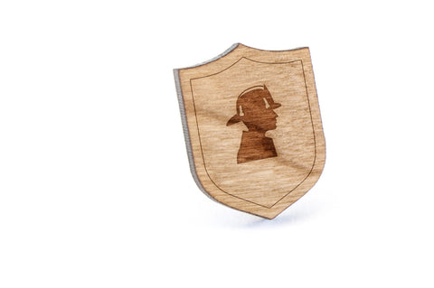 Fire Fighter Wood Lapel Pin