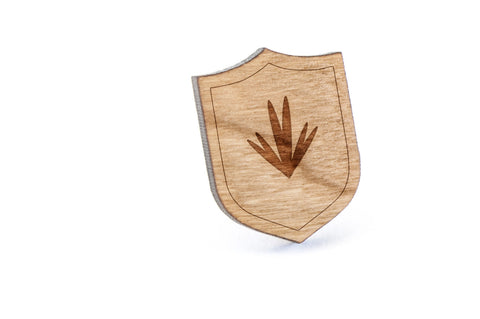Blade Of Grass Wood Lapel Pin