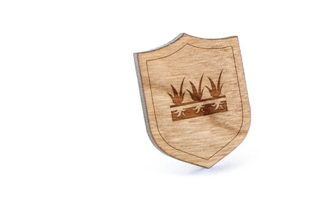 Blue Grass Wood Lapel Pin