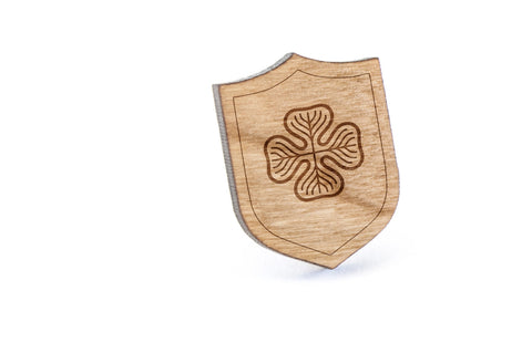 Flying Crest Wood Lapel Pin