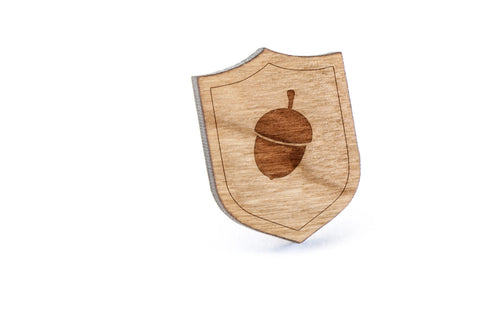 Acorn Wood Lapel Pin