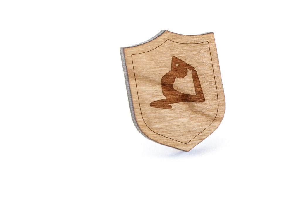 Yoga Wood Lapel Pin