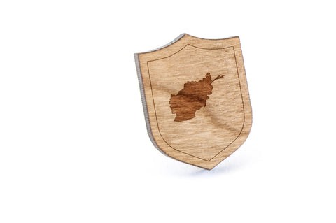 Afghanistan Wood Lapel Pin