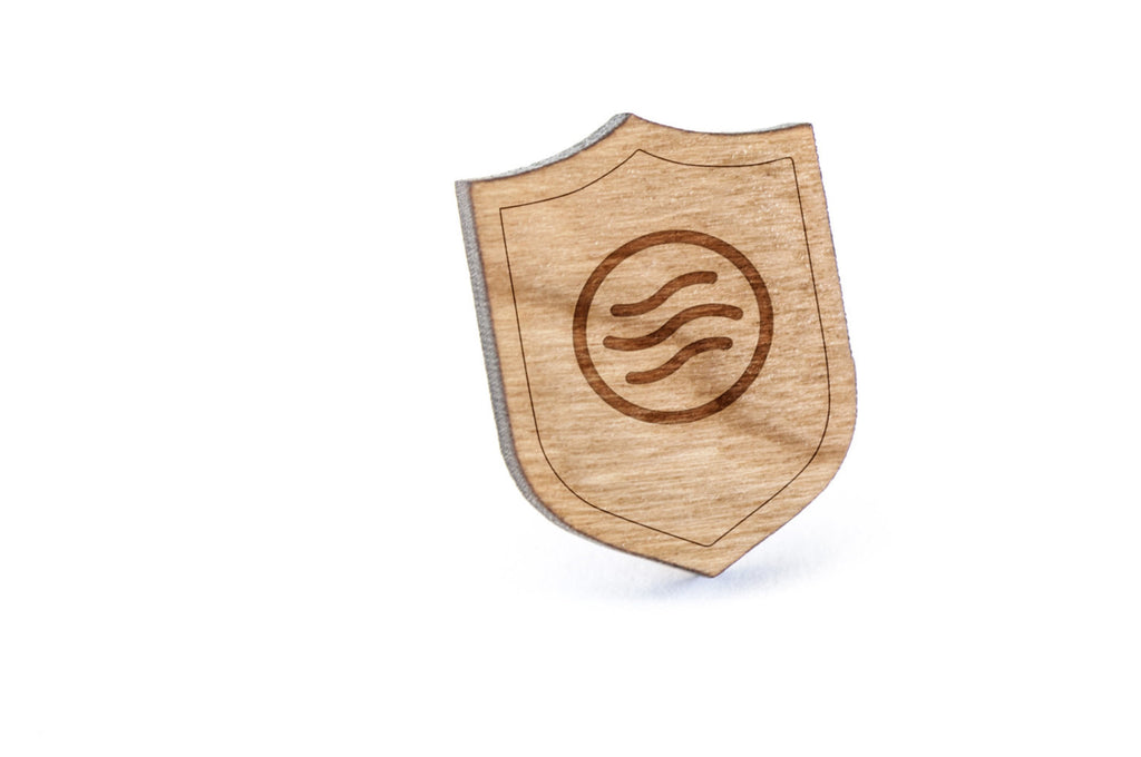 Air Wave Wood Lapel Pin