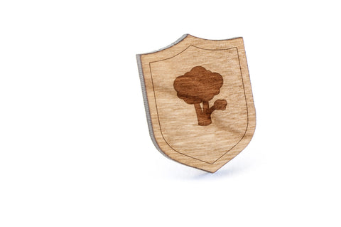 Broccoli Wood Lapel Pin