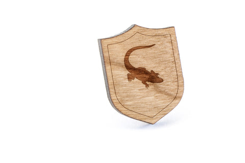 Alligator Wood Lapel Pin