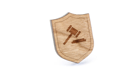 Gavel Wood Lapel Pin