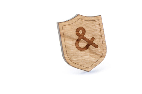 Ampersand Wood Lapel Pin