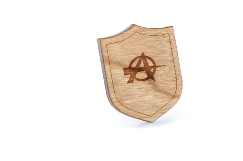 Anarchy Wood Lapel Pin