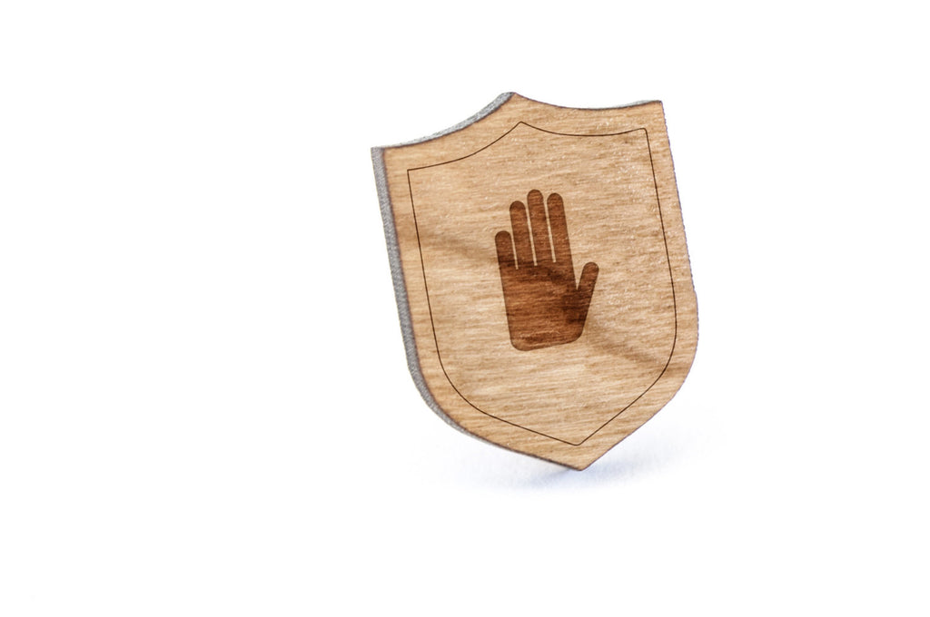 Anatomical Hand Wood Lapel Pin