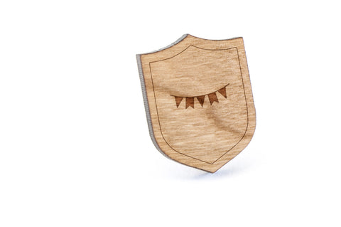 Bunting Wood Lapel Pin