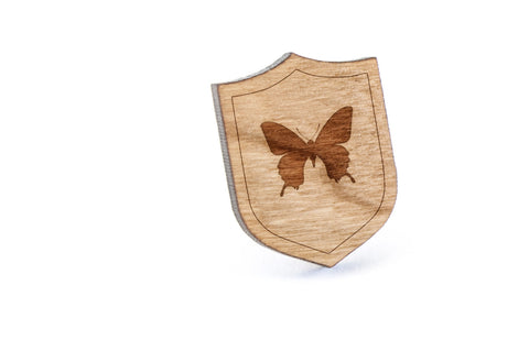 Butterfly Wood Lapel Pin