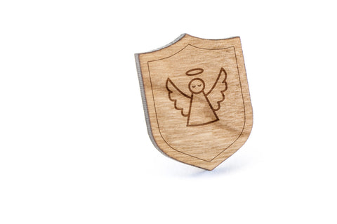 Angel Wood Lapel Pin