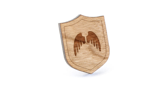 Angel Wings Wood Lapel Pin
