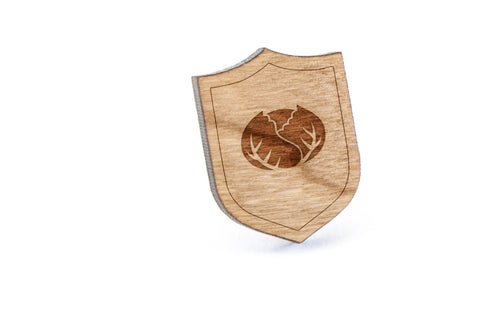 Cabbage Wood Lapel Pin