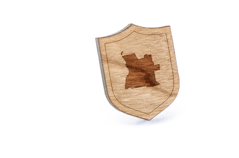Angola Wood Lapel Pin