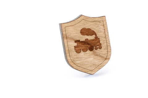 Caboose Wood Lapel Pin