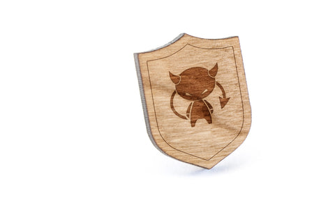 Demon Wood Lapel Pin