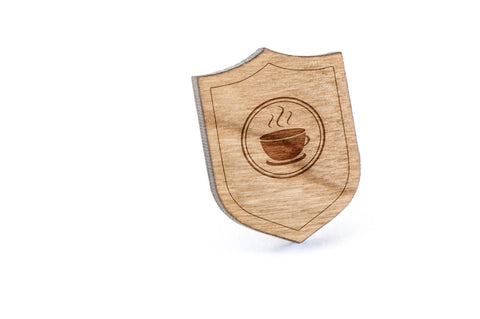 Caffeine Wood Lapel Pin