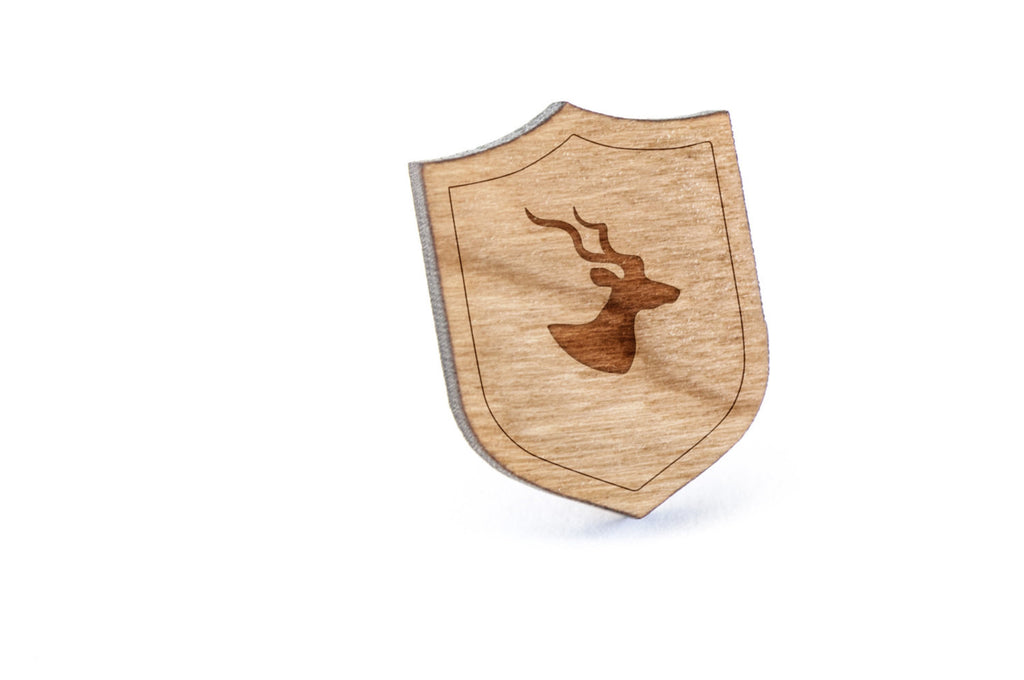 Antelope Wood Lapel Pin