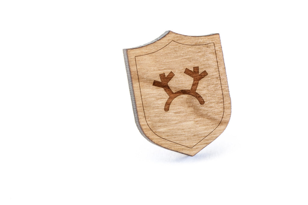 Antlers Wood Lapel Pin