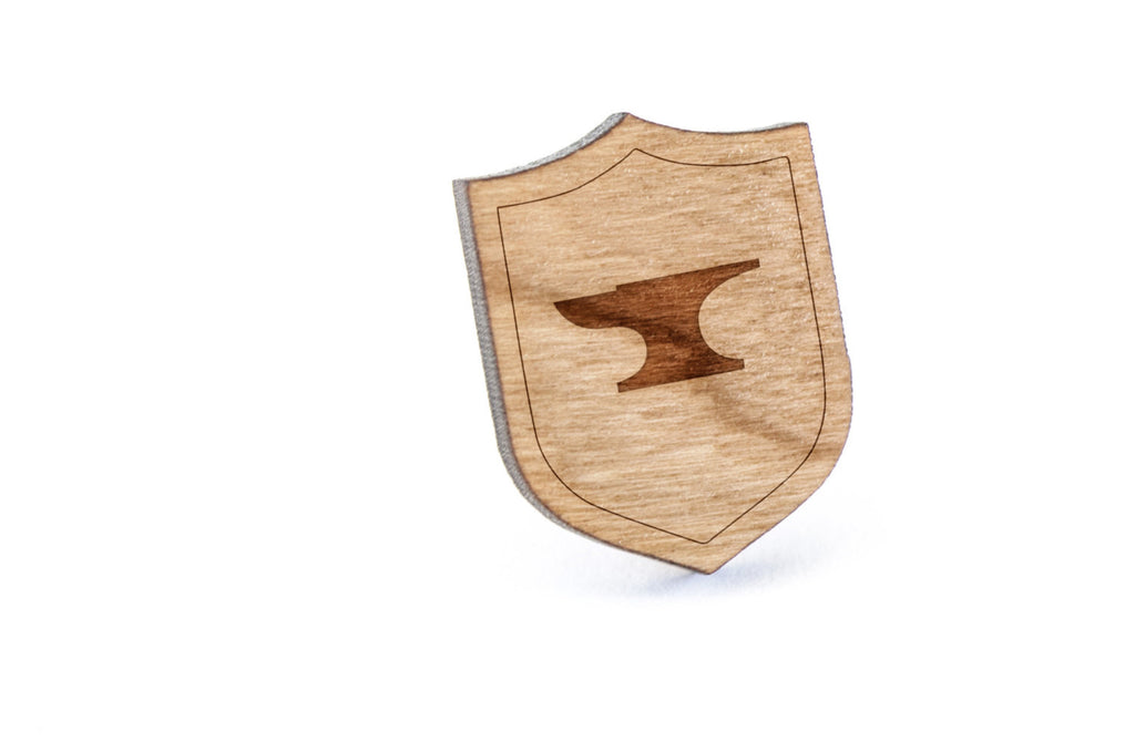 Anvil Wood Lapel Pin
