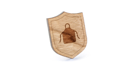 Apron Wood Lapel Pin