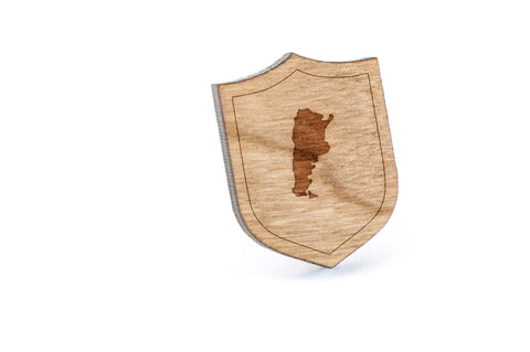 Argentina Wood Lapel Pin
