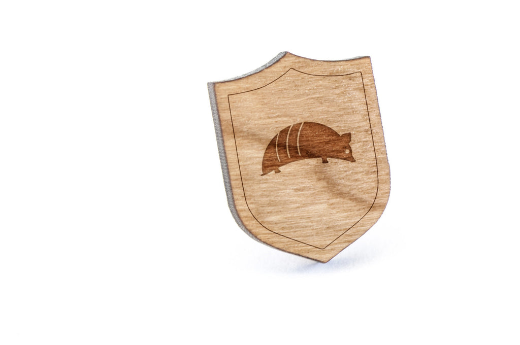 Armadillo Wood Lapel Pin