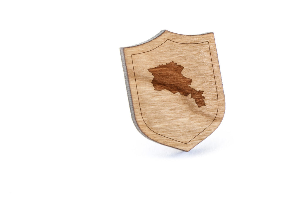 Armenia Wood Lapel Pin