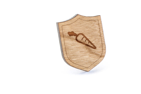 Carrot Wood Lapel Pin