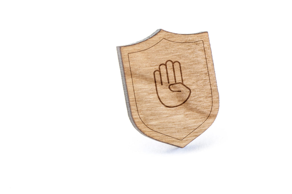 Asl B Wood Lapel Pin