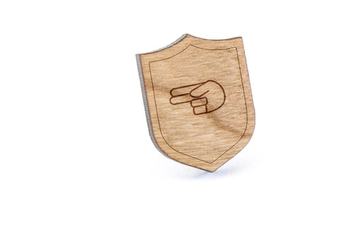 Asl H Wood Lapel Pin