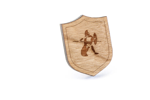 Warrior Wood Lapel Pin
