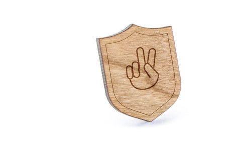 Asl K Wood Lapel Pin