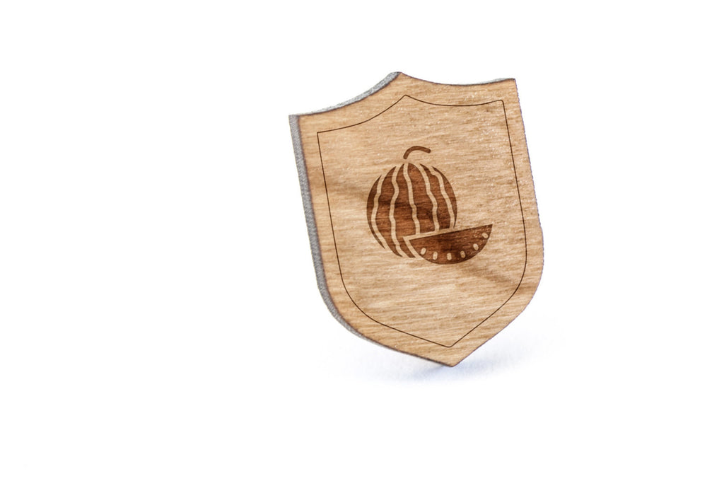 Watermelon Wood Lapel Pin