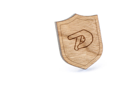 Asl P Wood Lapel Pin