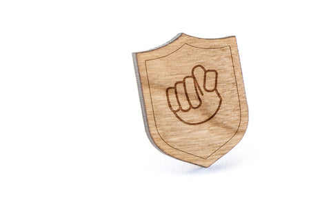 Asl T Wood Lapel Pin