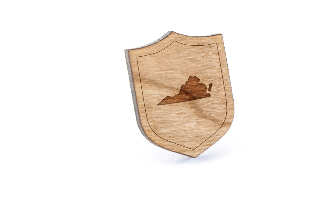 Virginia Wood Lapel Pin
