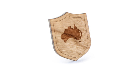 Australia Wood Lapel Pin