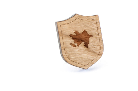 Azerbaijan Wood Lapel Pin