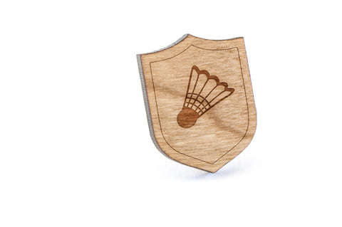 Badminton Ball Wood Lapel Pin