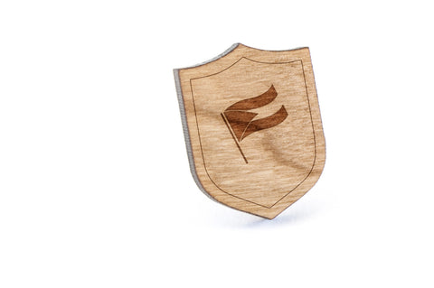 Bahamas Wood Lapel Pin