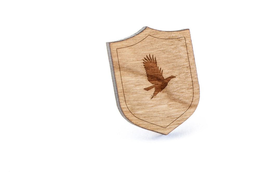Bald Eagle Wood Lapel Pin