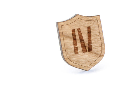 Bamboo Sticks Wood Lapel Pin