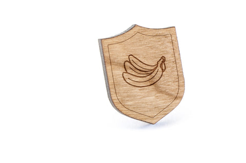 Bananas Wood Lapel Pin